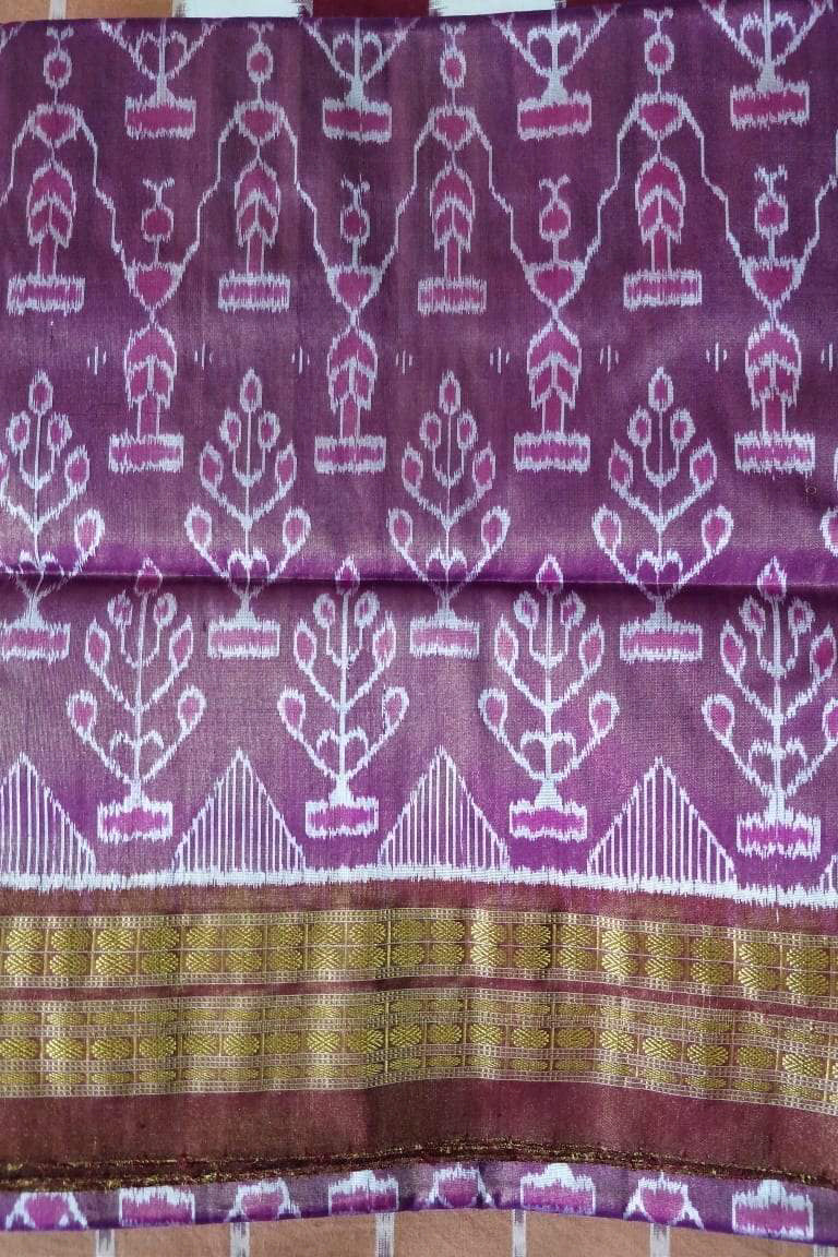 Purple Tissue Silk Bandha