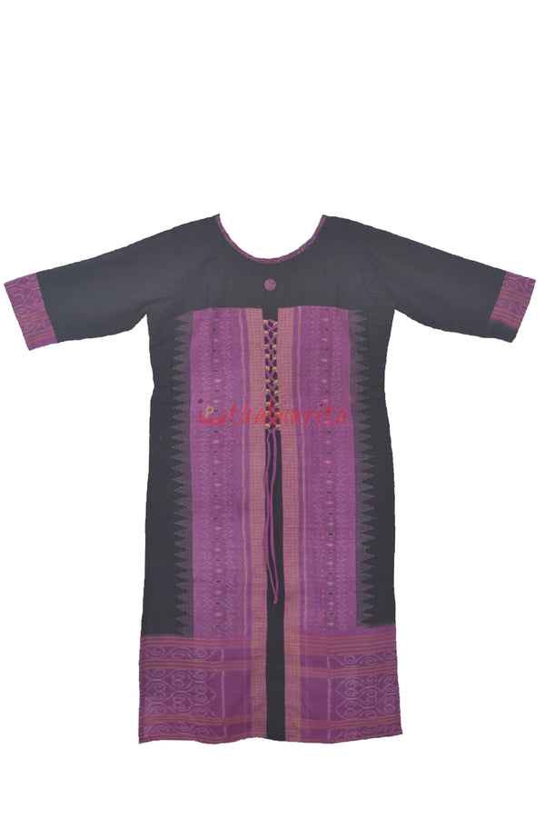 Black Purple Kurta