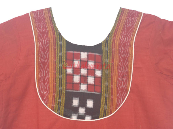 Brown Pasapali Border Kurta