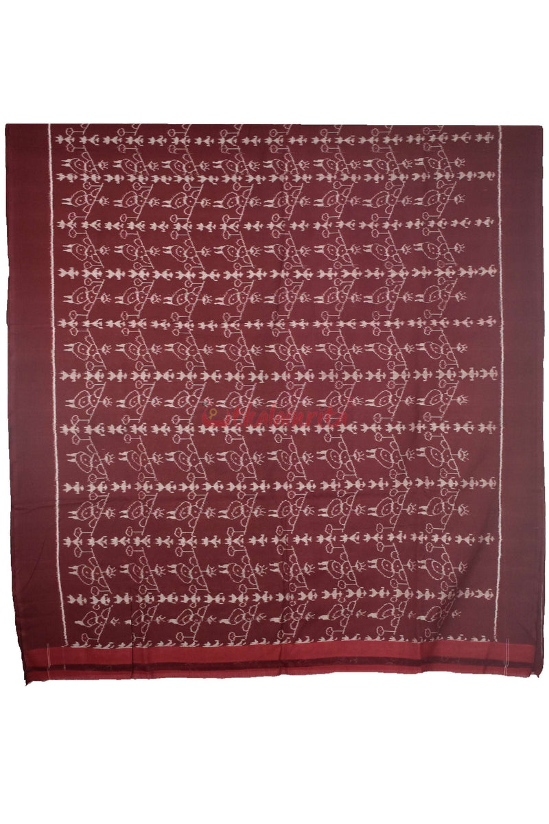 Maroon Tribal Ikat (Fabric)