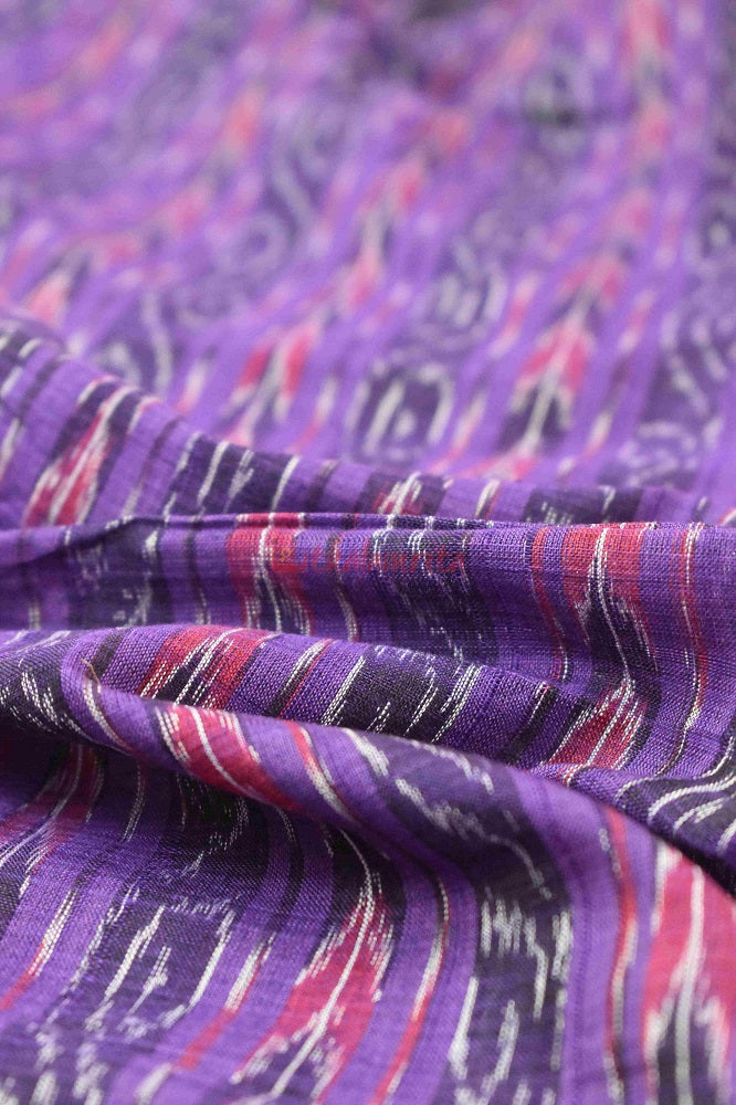 Purple Arrows Sambalpuri Ikat (Fabric)