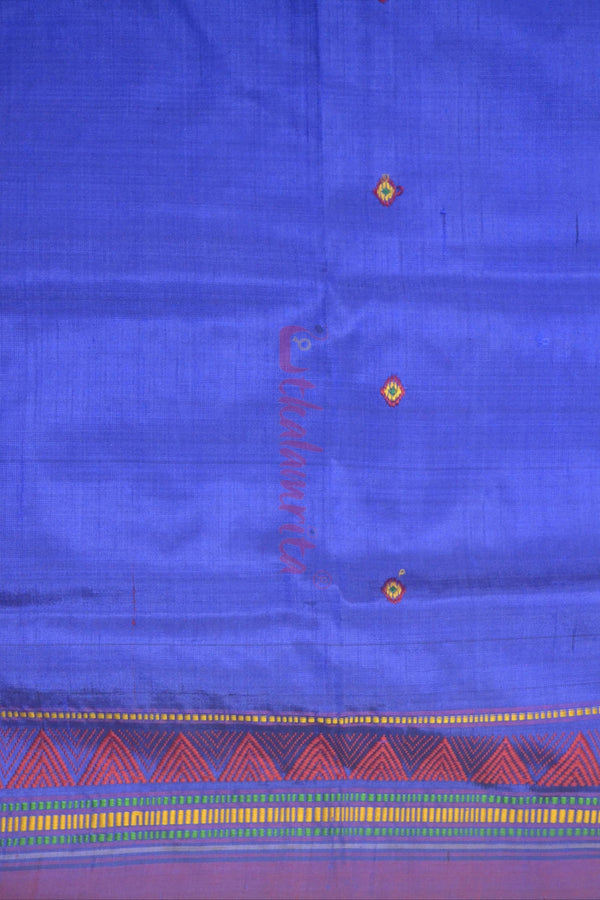 Electric Blue Dongria Silk