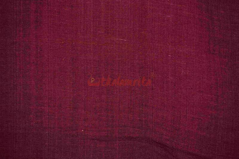 Kotpad Plain Maroon (Fabric)