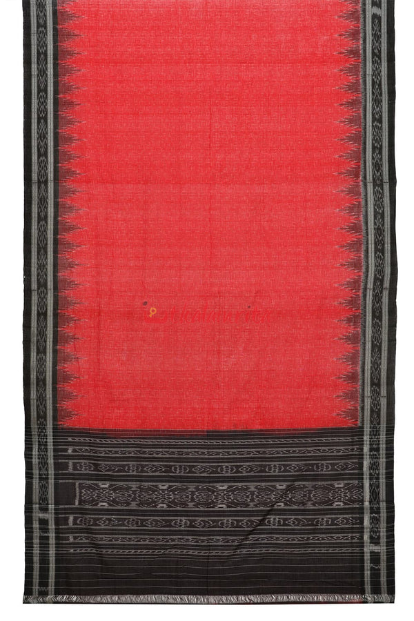 Red Black Jharana Saree
