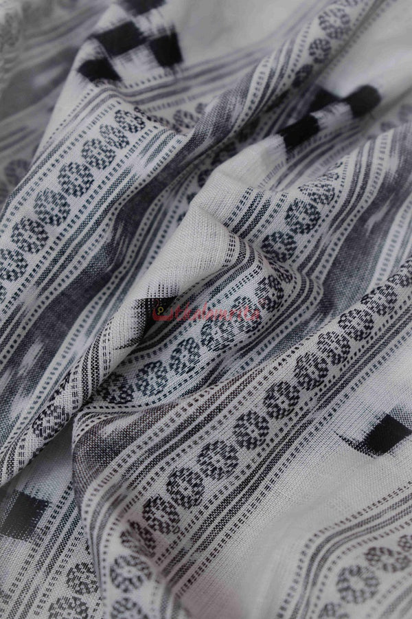 Black Pasapali White Base (Fabric)