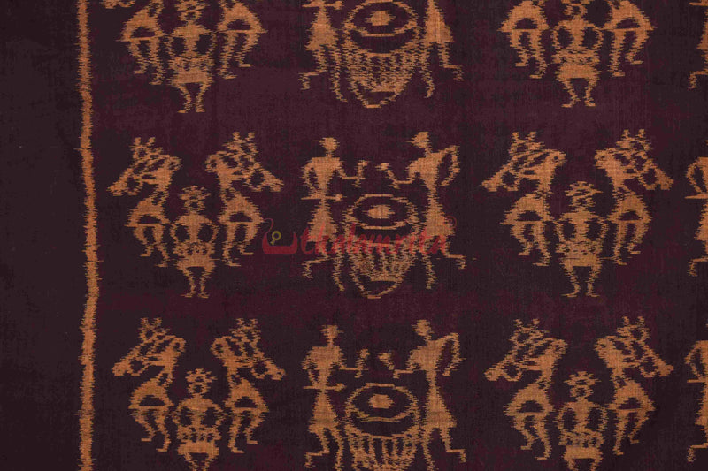 Tribals Beating Drums (Fabric)