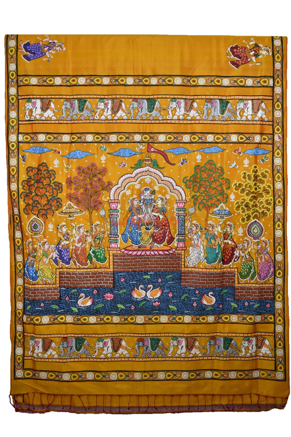 Leela pattachitra silk