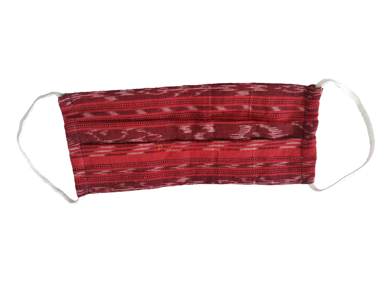 Red Ikat 2-Layer Mask