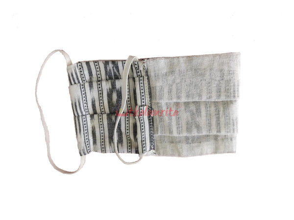 White Ikat 2-Layer Mask