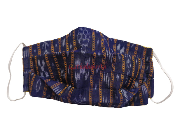 Blue Ikat 2-Layer Mask