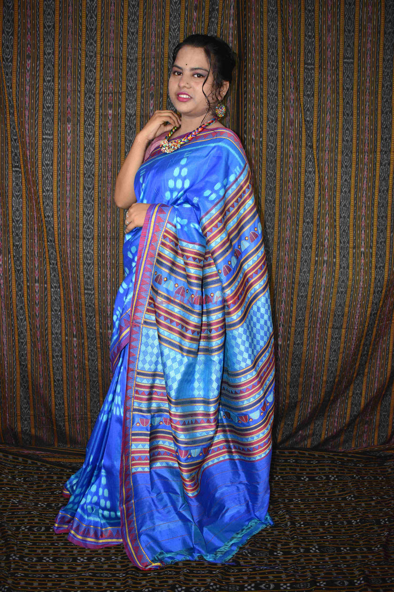 Blue Mermaid Dongria Silk