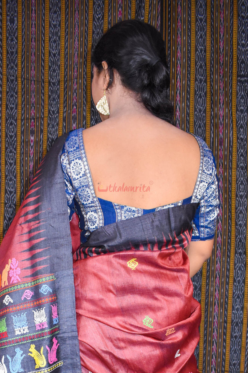 Konark Wheels Blue (Blouse)