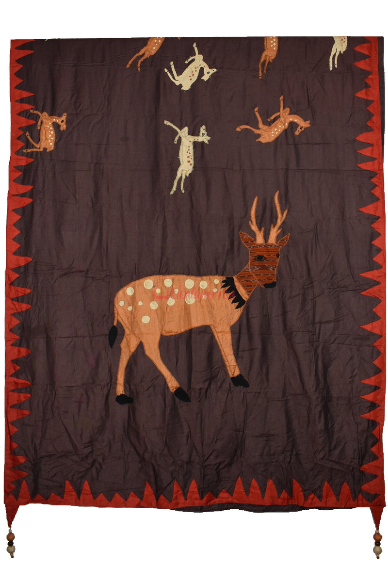 Deer Applique Designer Silk