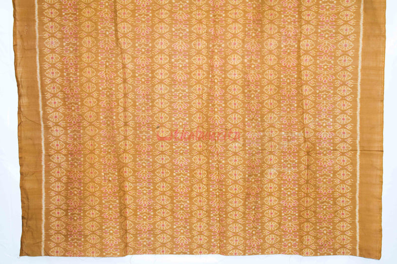Mustard Brown Flowers (Fabric)