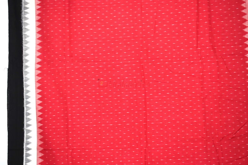 Red with Double Temple Border (Fabric)