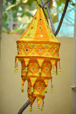 Orange Yellow Special 3-Step Round Lampshade