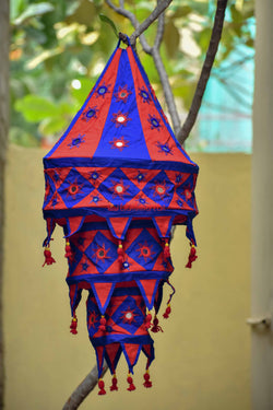 Blue Red Special 3-Step Round Lampshade