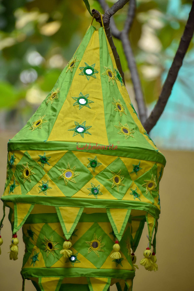 Green Yellow Special 3-Step Round Lampshade