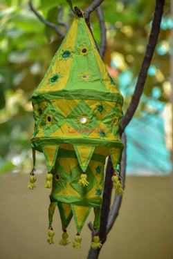 Green Yellow Special 2-Step Round Lampshade