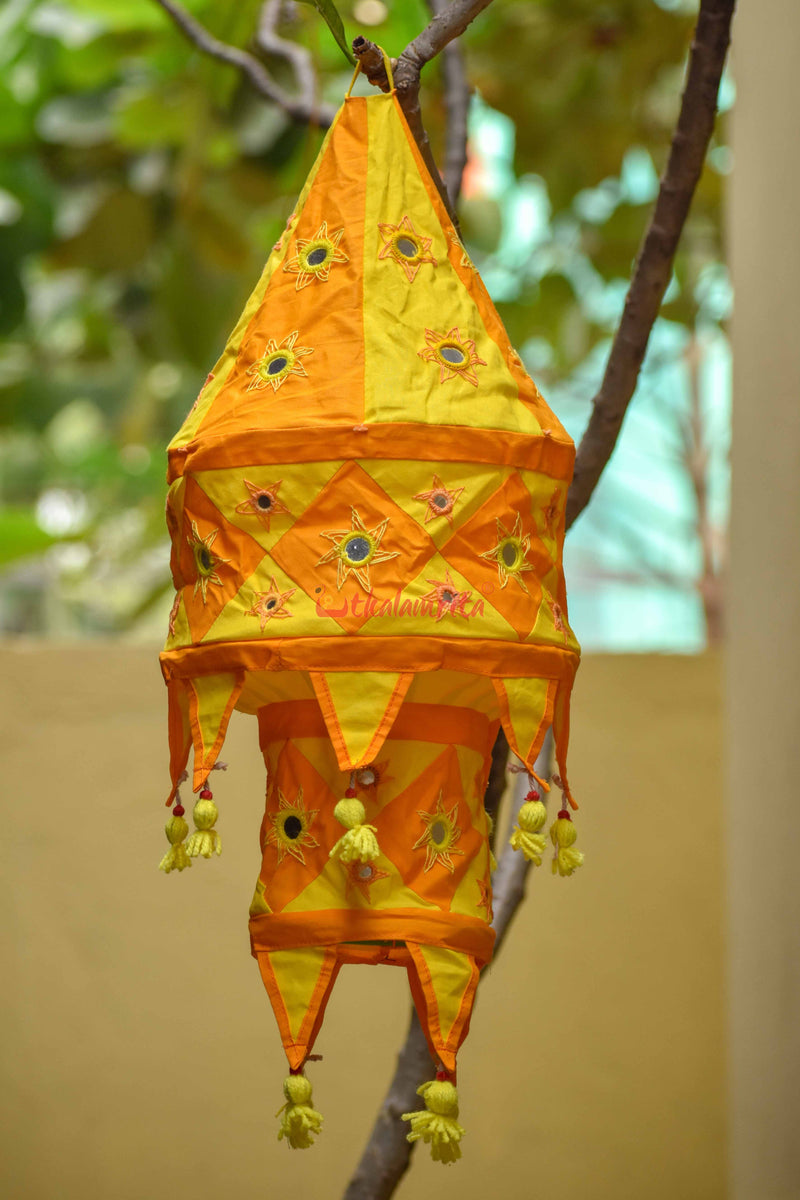 Orange Yellow Special 2-Step Round Lampshade