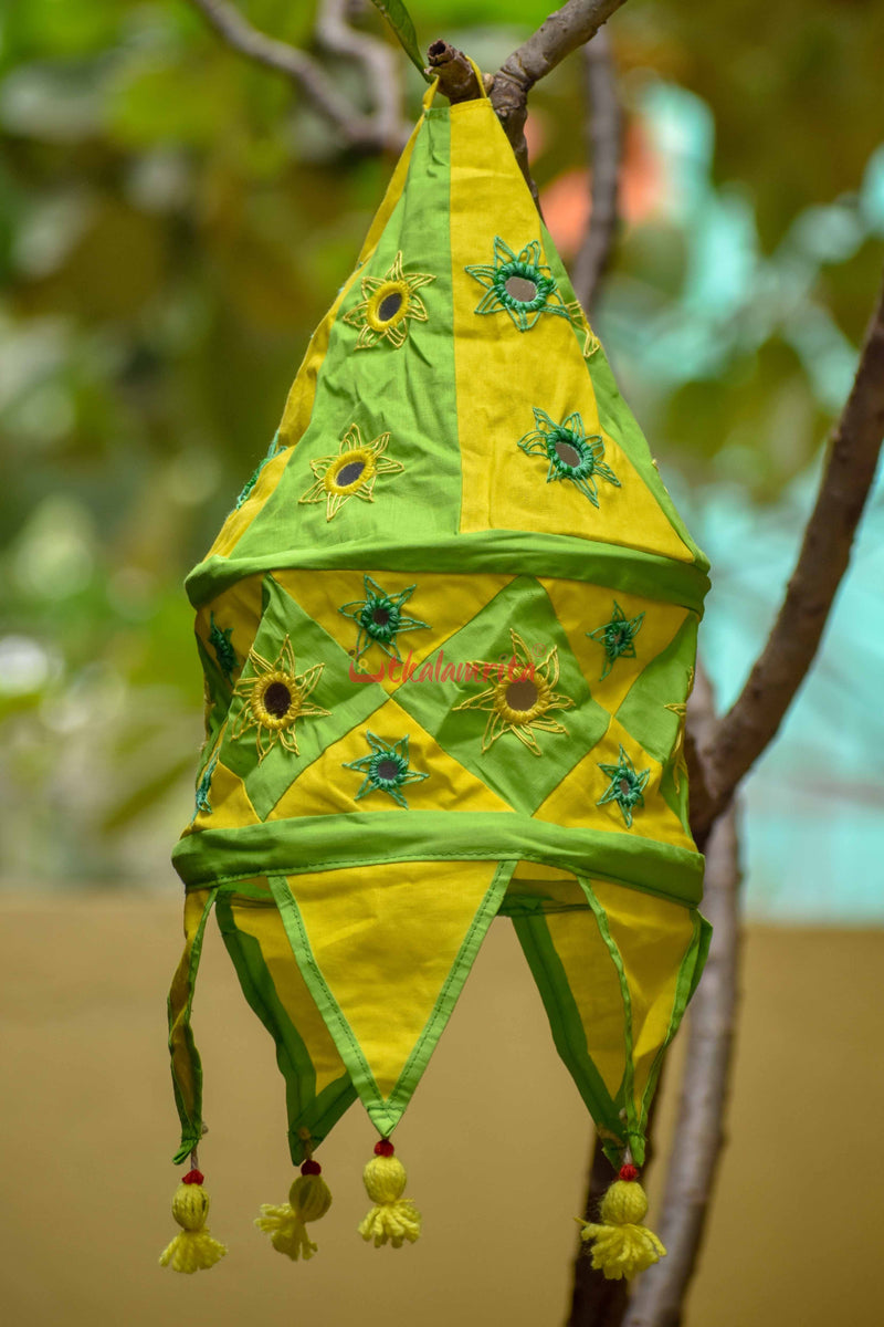 Green Yellow Special 1-Step Round Lampshade