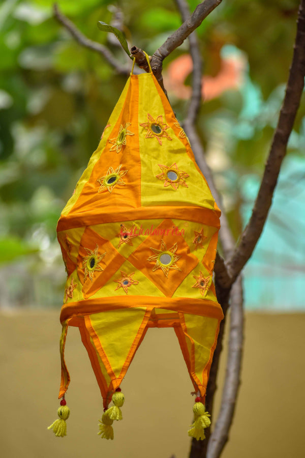 Orange Yellow Special 1-Step Round Lampshade