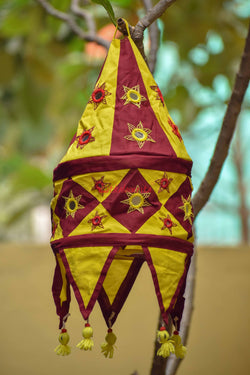 Maroon Yellow Special 1-Step Round Lampshade
