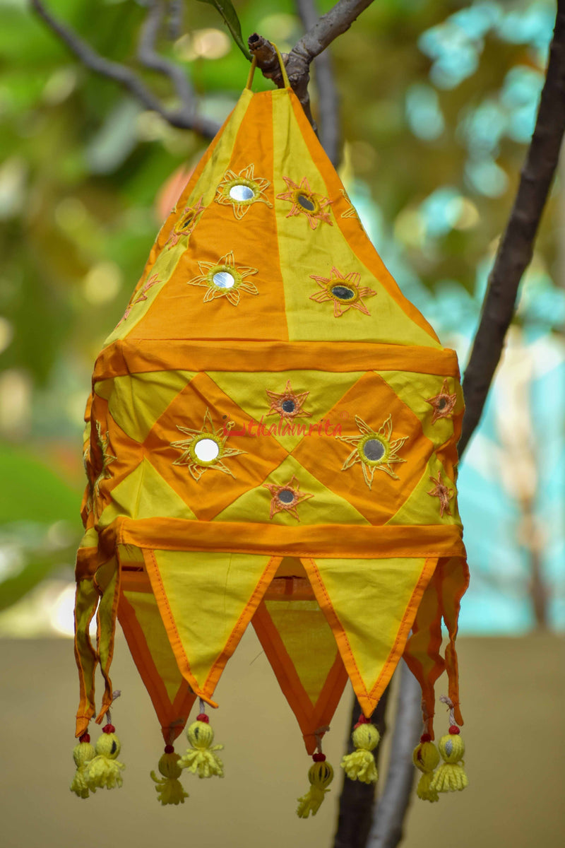 Orange Yellow Special 1-Step square Lampshade