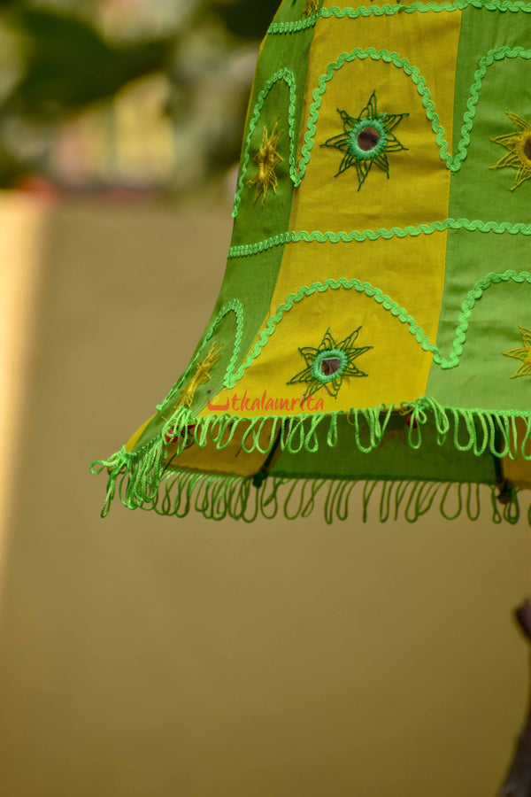 Green Yellow Bell Lampshade