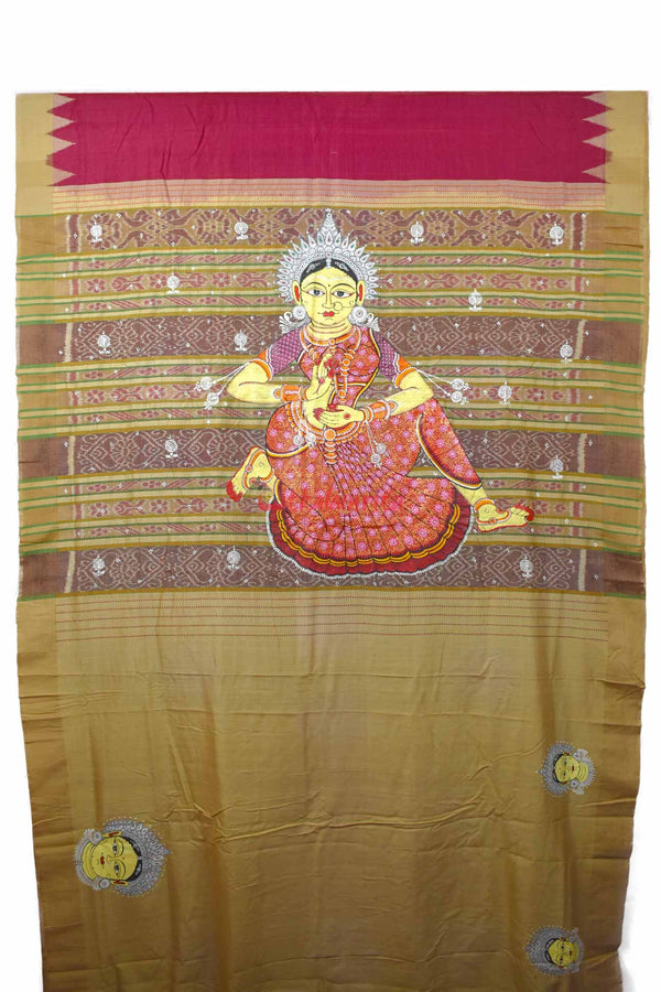 Odissi Dancer Pattachitra Eri Silk