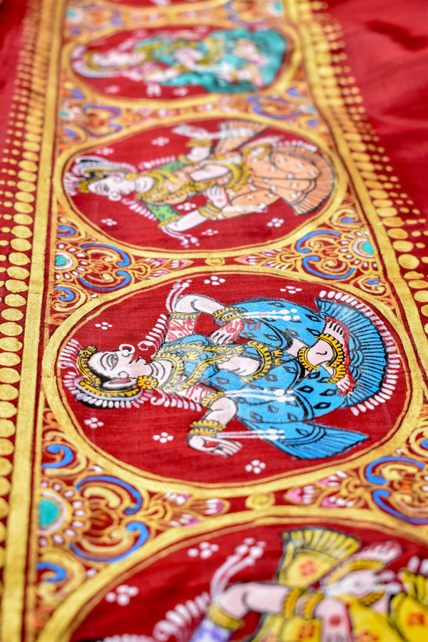 Kandarpa Haati Pattachitra Silk