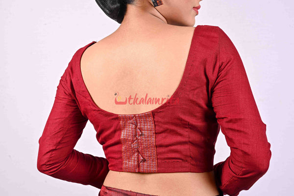 Maroon Full Hand (Blouse)