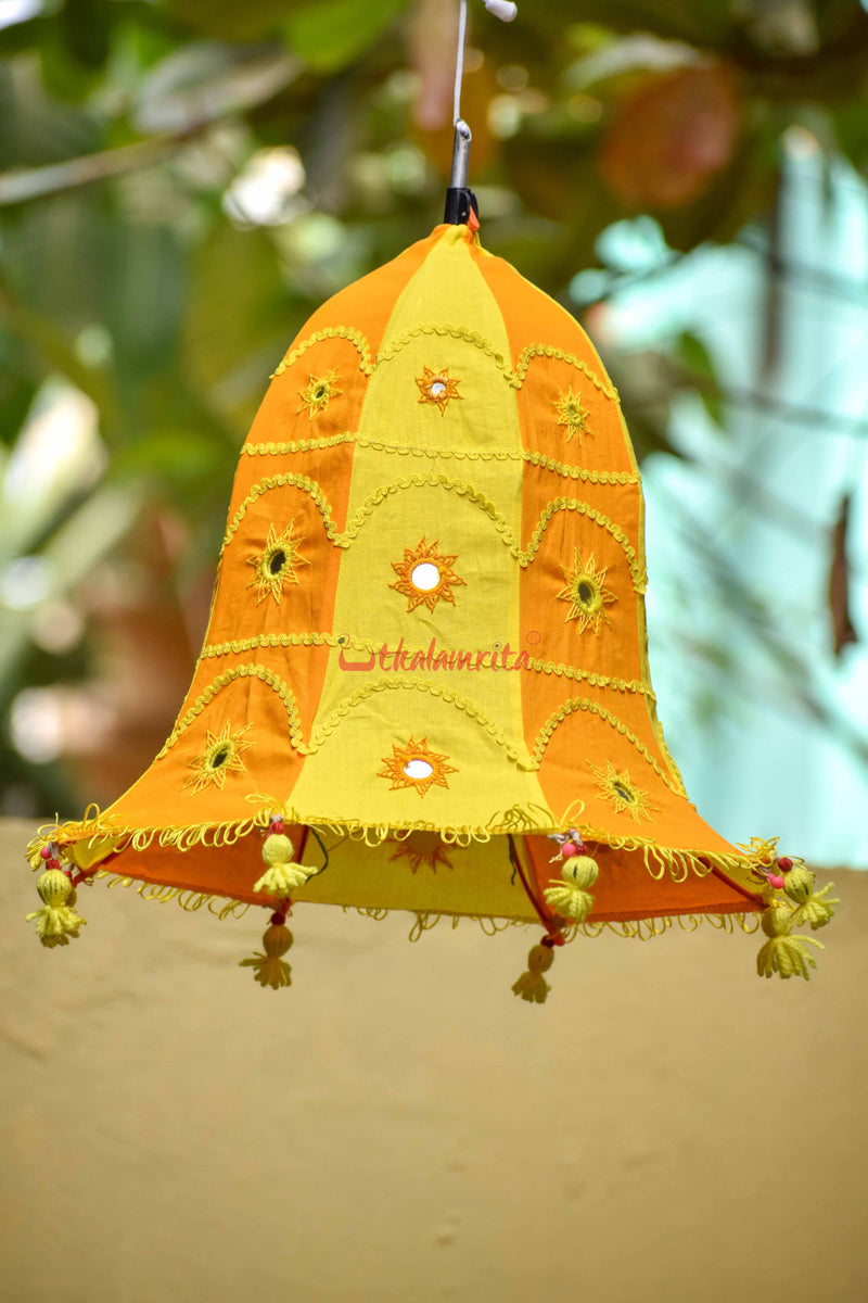 Orange Yellow Bell Lampshade