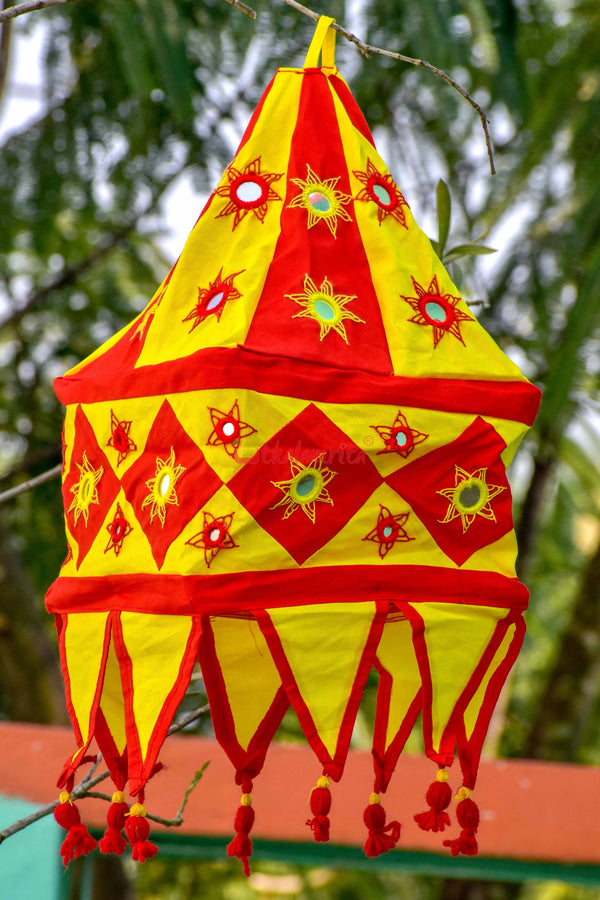 Red Yellow Special 1-Step square Lampshade