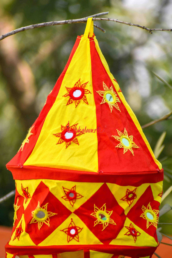 Red Yellow Special 2-Step Round Lampshade