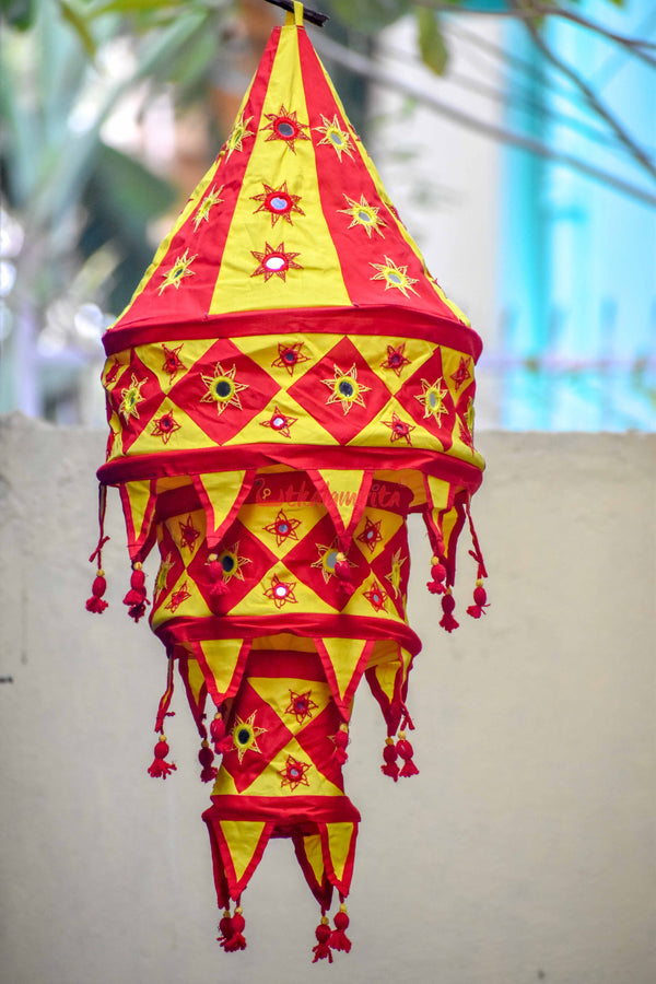Red Yellow Special 3-Step Round Lampshade
