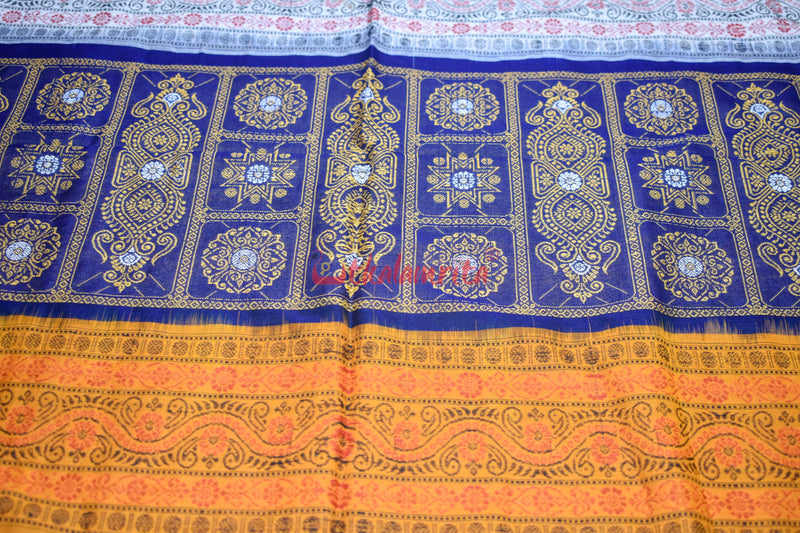 Navy Blue Yellow Triple Color Anchal