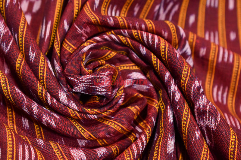 Maroon Ikat Dress Set