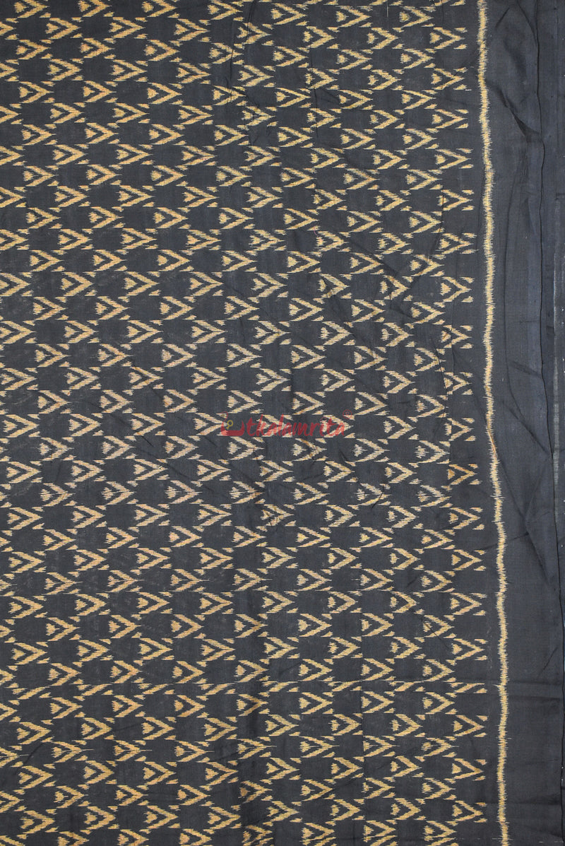 Double Triangles Over Black (Fabric)