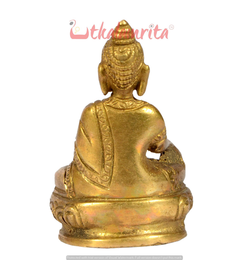 Utkalamrita Sitting Buddha Brass Showpiece