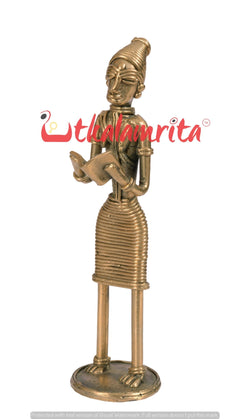 Utkalamrita Dhokra Woman Standing and Reading