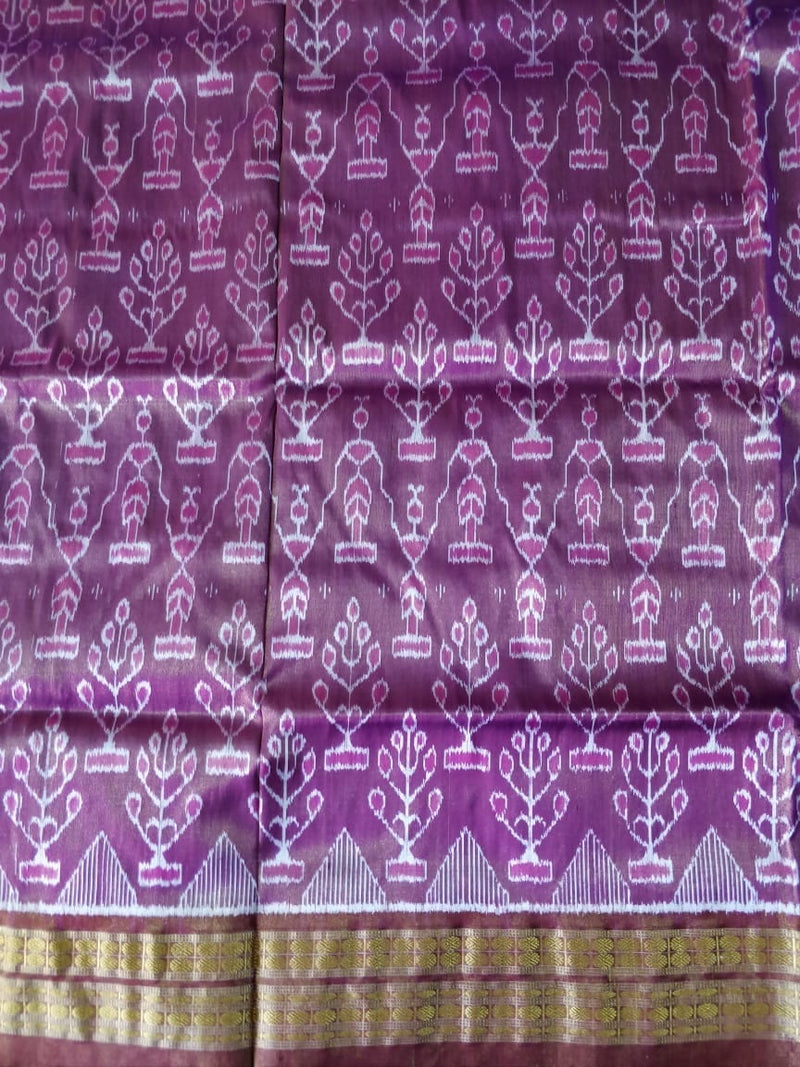 Utkalamrita Purple Tissue Silk Saree
