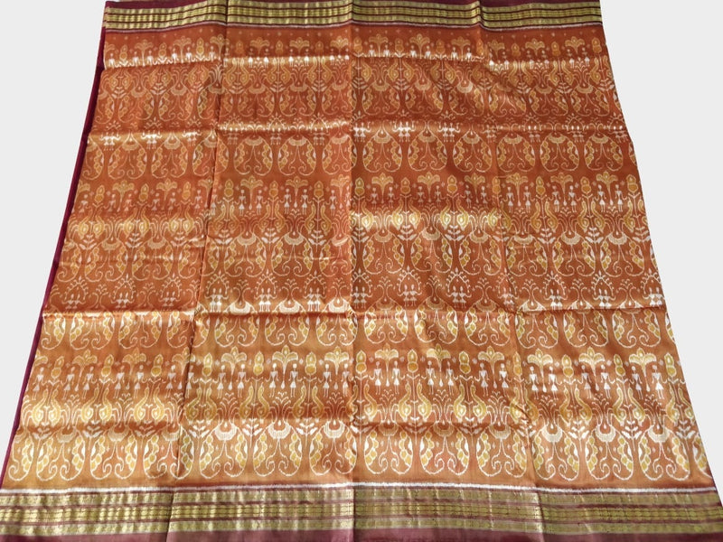 Golden Brown Tissue Silk