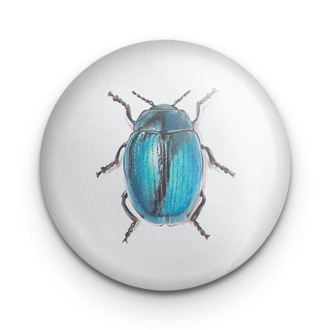 Scarab Beetle Blue Badge