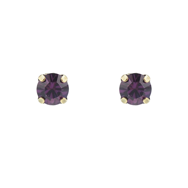 Bliss Studs small - Amethyst