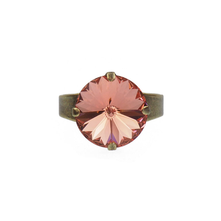 Bliss ring - rose peach