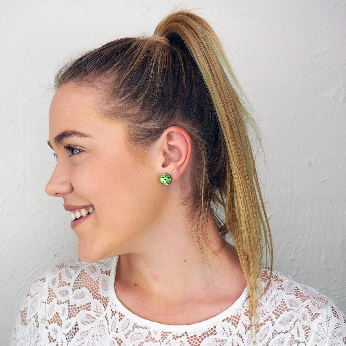 Bliss Studs - Peridot