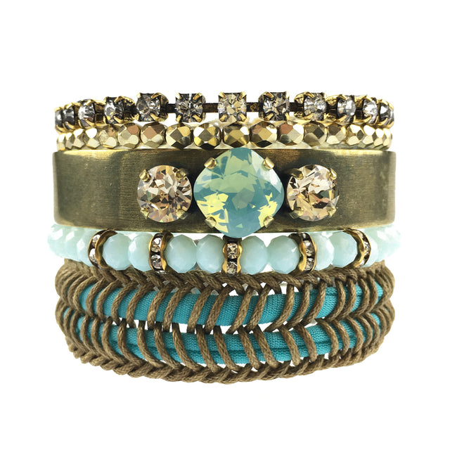 Faded Memories bracelet stack