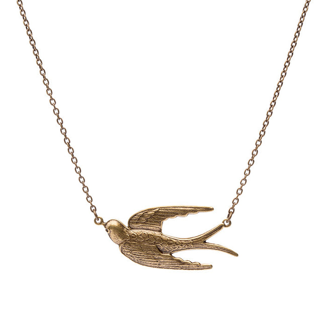 Fly Away Pendant - Antique Brass