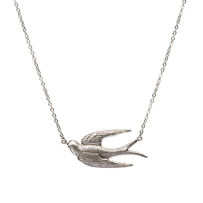 Fly Away Pendant - Antique Silver